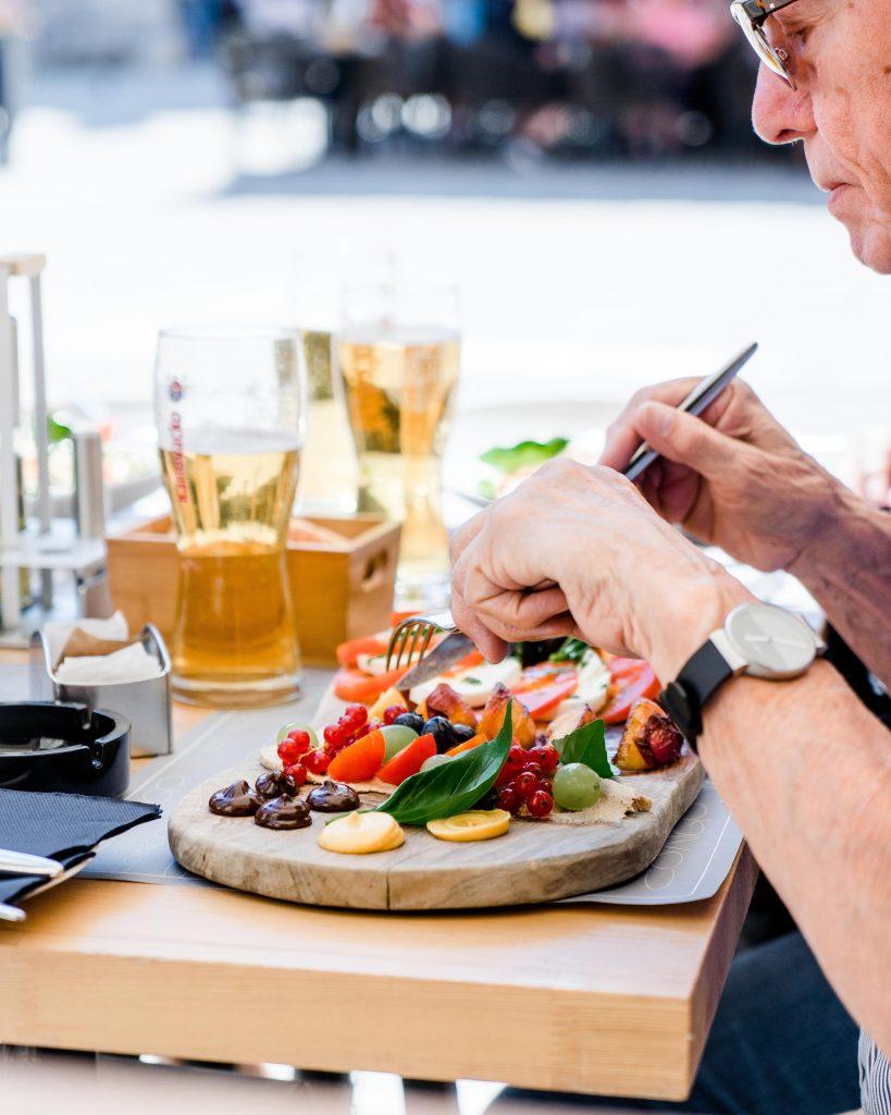 Man while eating